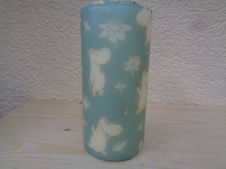 blue moomin candle by CANDLEMANDAN on Etsy