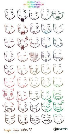 Expressões faciais simples