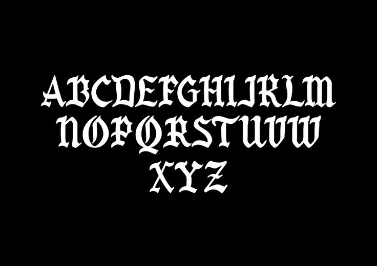 Old English custom letters. Redesign of some old english letters. #type #typography #custom #letters #lettering #classicocoolestclub