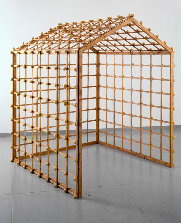 Sigmar Polke, Object Kartoffelhaus (Potato House Object), 1967, Wood and potatoes, 2009 Sigmar Polke,