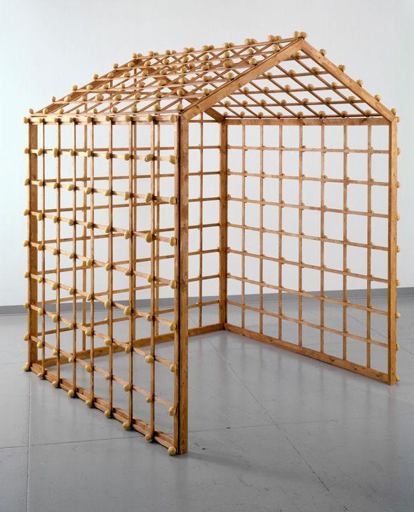 Sigmar Polke, Object Kartoffelhaus (Potato House Object), 1967, Wood and potatoes, 2009 Sigmar Polke,
