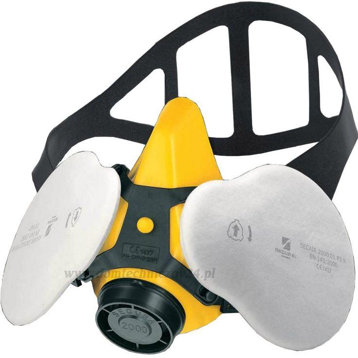 """Zestaw SECURA 2000 GWAREK chroni układ oddechowy przed pyłami, dymami i mgłami. Użycie dużych, owalnych I """"dwustronnych"""" filtrów z efektem tryboelektrycznym, pozwala na uzyskanie wysokiej skuteczności przy niskich oporach oddychania i wysokiej chłonności pyłowej, zwiększając komfort oddychania. Kształt filtrów minimalizuje ograniczenie pola widzenia. Filtry te charakteryzują się skutecznością klasy P3 i oporami oddychania jak dla klasy P1."""
