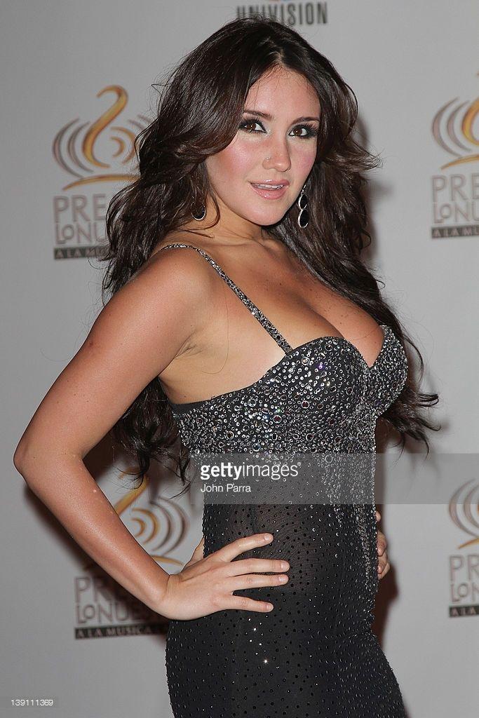 Dulce Maria arrives at the Premio Lo Nuestro a La Musica Latina at American Airlines Arena on February 16, 2012 in Miami, Florida.