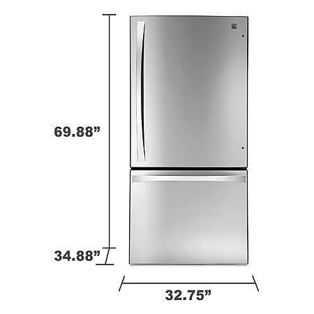 Kenmore Elite 79043 24.1 cu. ft. Bottom-Freezer Refrigerator—Stainless Steel 1