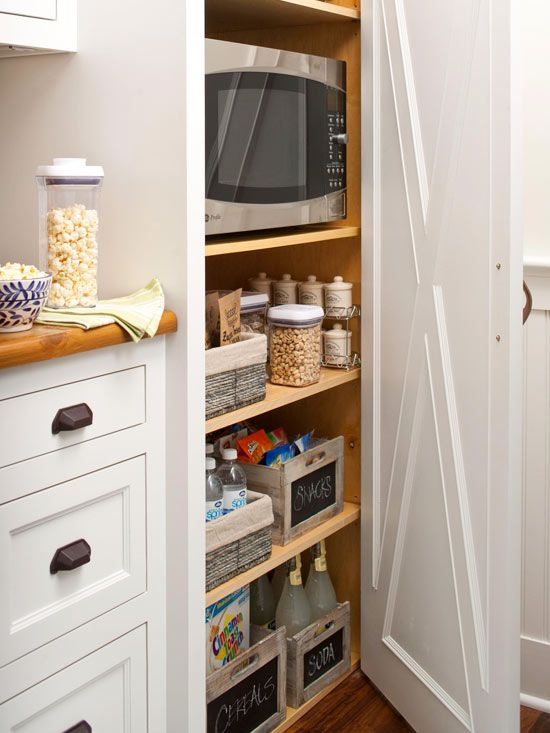 One Story Storage Better Homes Gardens Bhg Kitchens Pinterest Kitchen Pantry And Remodel
