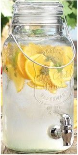 Ice Cold Mason Jar Drink Dispenser - traditional - cups and glassware - by Classic Hostess