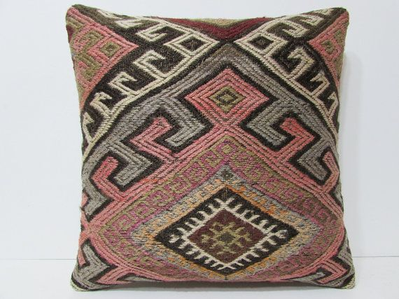 Kilim pillow 24x24 euro sham pillow cover extra large pillow case big throw  pillow huge decorative pillow giant floor