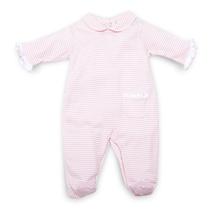 Kissy Kissy Pink Stripe All-in-one with Ruffles