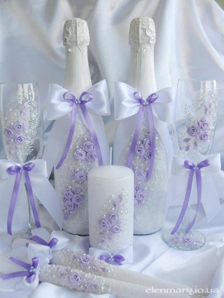 4 - Свадебные наборы: бокалы, свечи для венчания, подушки, шампанское и др.