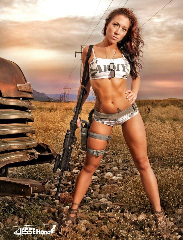 Apologise, military naked army girl holding a gun useful topic