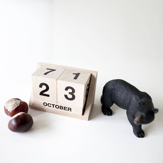 $26 wooden calendar by ekodizajn #etsy #eco #calendar #wooden #wood #toys