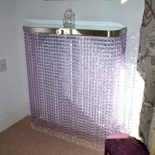 This console table is created in Pink Glass crystal - definitely the one with the WOW factor