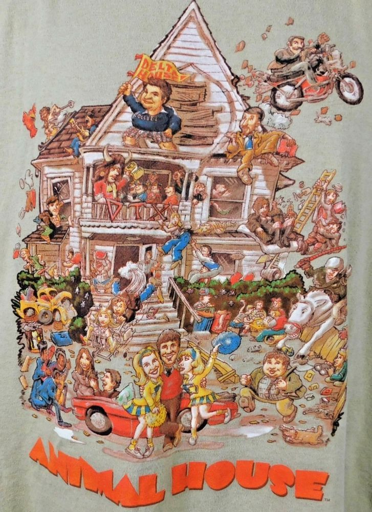 National Lampoons Animal House Graphic T-shirt Large L Beige Cotton Blend  #Unbranded #GraphicTee