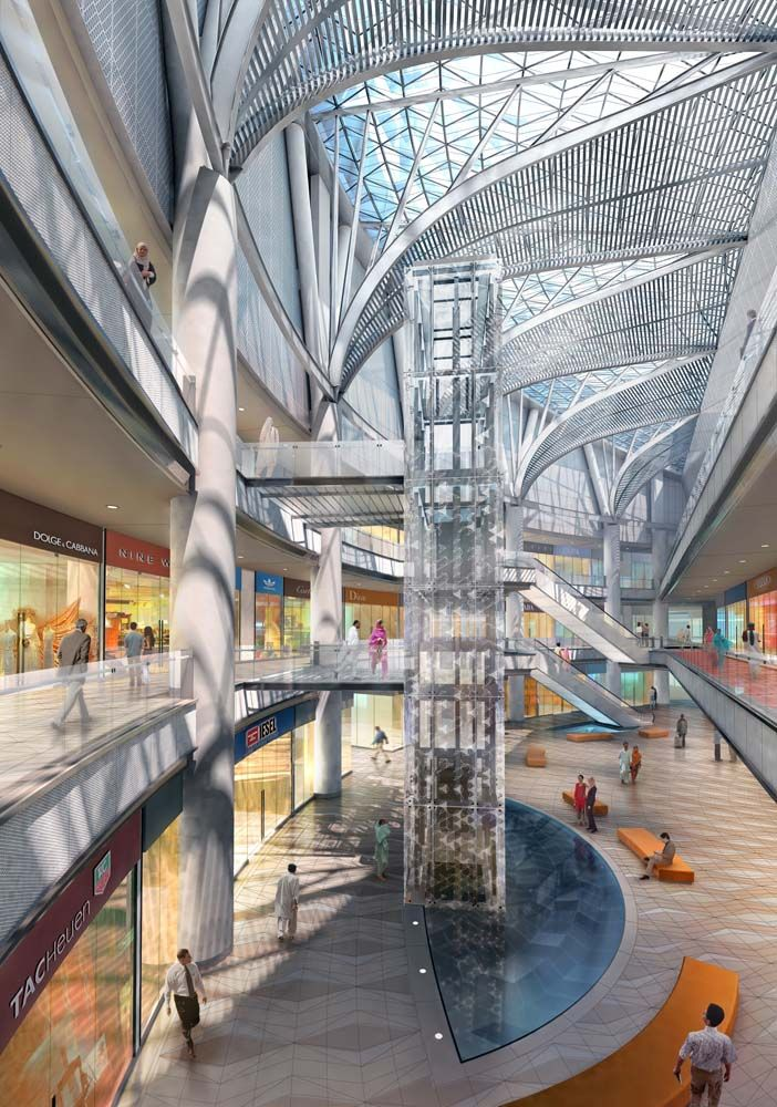 3d Perspective Drawing Room: Architecture, Shopping Mall