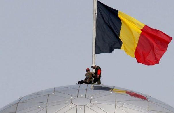 Belgische vlag. #belgium #flags (nationale feestdag)