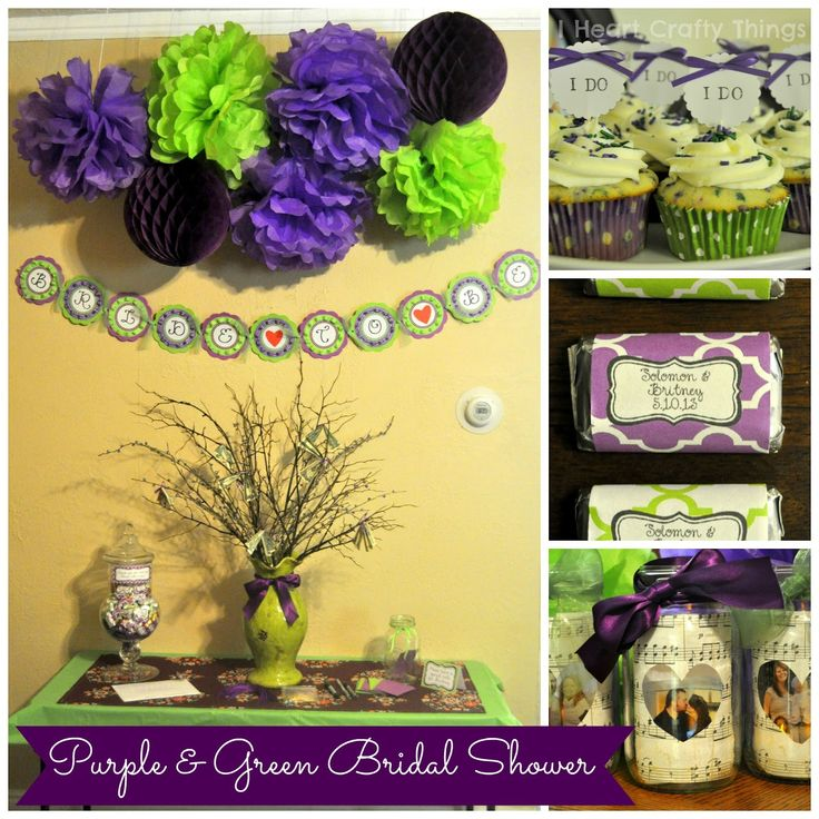 I HEART CRAFTY THINGS: Purple & Green Bridal Shower