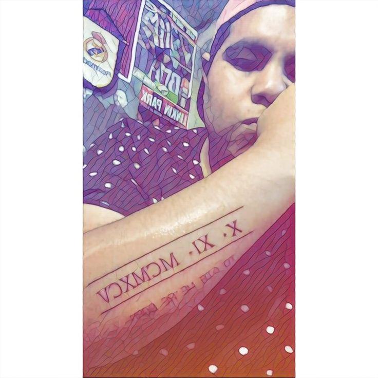 Números romanos  Tatuaje  To die we're born