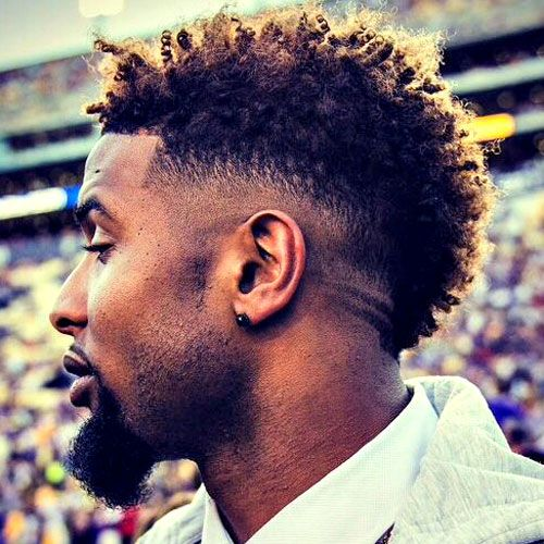 Burst Fade Mohawk Haircut For Men