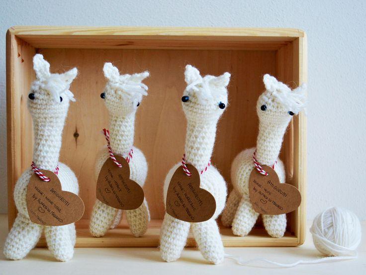 Amigurumi Alpaca, Pupazzi uncinetto, Amigurumi personalizzati, Pupazzi per bambini, Regalo nascita di AlpacaDiMarano su Etsy