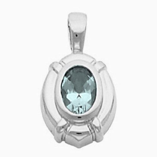 Platinum Oval Cut Sky Blue Topaz Pendant Gems-is-Me. $820.95. This item will be gift wrapped in a beautiful gift bag. In addition, a 'gift message' can be added.. FREE PRIORITY SHIPPING. Save 40%!