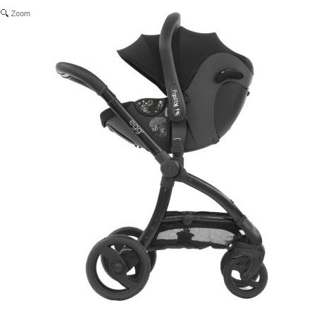 egg car seat Black Frame 3in1 i-Size Travel System - Espresso Black. See more at http://www.parentideal.co.uk/kiddies-kingdom---babystyle-egg.html or click on image to visit shop direct and view current prices. #Egg #Babystyle #BabystyleEgg #EggPushchair #EggPram #Pram Babystyle Egg pushchair travel system for baby boys and girls with carrycot and car seat available.