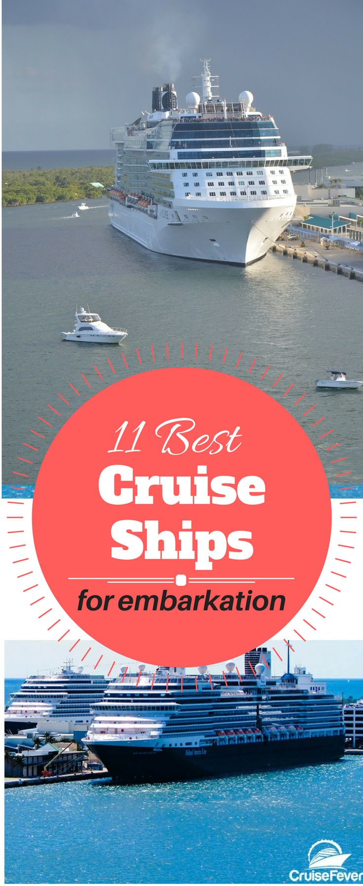 These 5 cruise lines and 11 ships are the most popular for embarking on  your cruise vacation. They consistently earn high ratings for ease of  boarding, short waiting periods in line, check-in and luggage  procedures, and streamlined services to keep passengers happy.