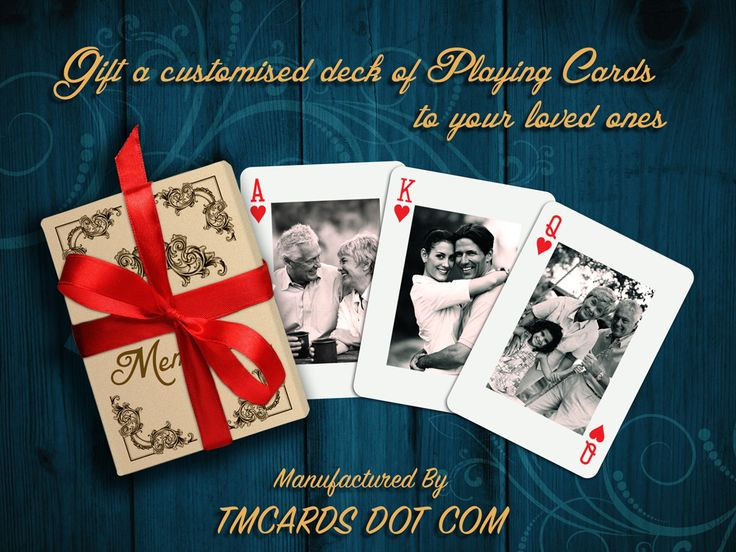 If you are looking for a fun and memorable gift, a deck of Photo Playing Cards is perfect for any occasion. Wedding favors, business events or advertising tools are a common use for personalized playing cards.