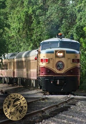 Napa Valley Wine Train meanders north and south from Napa to St. Helena, Calif.