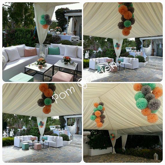 Tissue Paper Poms  Set of 40  Weddings decor/Tent by PomGarden
