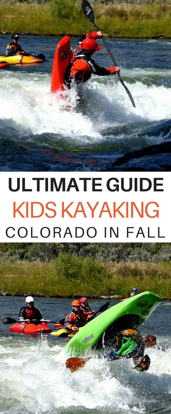 Kids Kayaking: The Ultimate Guide For Finding Fall Water in Colorado