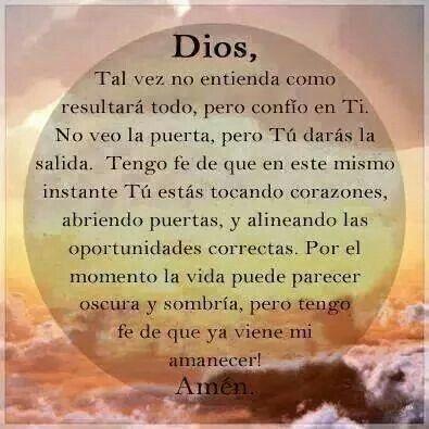 Dios tiene el control, amén
