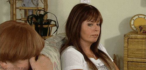 """And you've really perfected your side eye. 