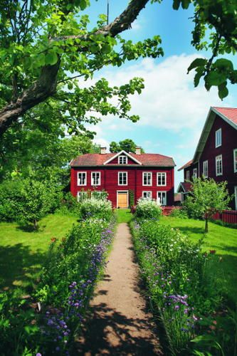 Decorated farmhouses of Hälsingland (Sweden). This is now on Unescos world heritage list.