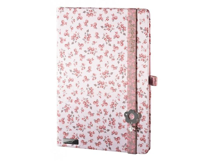 Luxusní dámský zápisník na poznámky s romantickým květinovým motivem.