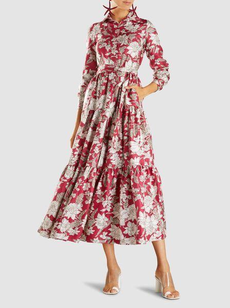 c5787cf21c5f6 La DoubleJ - Printed Long Sleeve Silk Bellini Dress exclusive to The Modist
