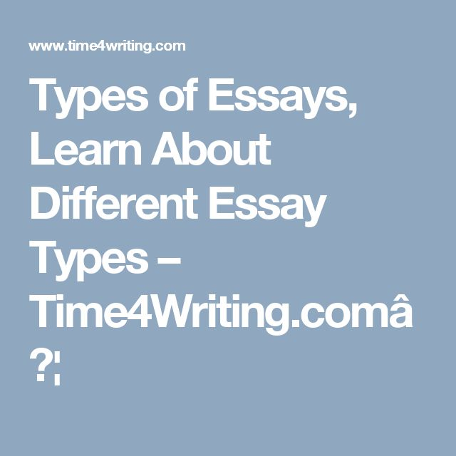Different types of essays in english