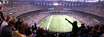 New Orleans Saints - Mercedes-Benz Superdome - ''The Superdome'' & ''The Dome'' - Capacity: 76,468 - (Stadium Formerly Named Louisiana Superdome 1975 to 2011 & Mercedes-Benz Superdome 2011 to Present)