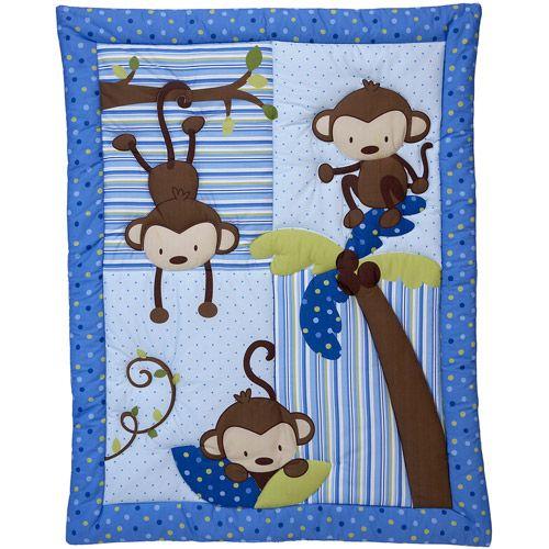 Little Bedding by NoJo 3 Little Monkeys 10pc Nursery in a Bag Crib Bedding Set, Boy