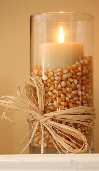 popcorn vase candle holder
