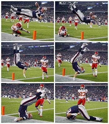 Rob Gronkowski scored a TD for NE Patriots #NFL