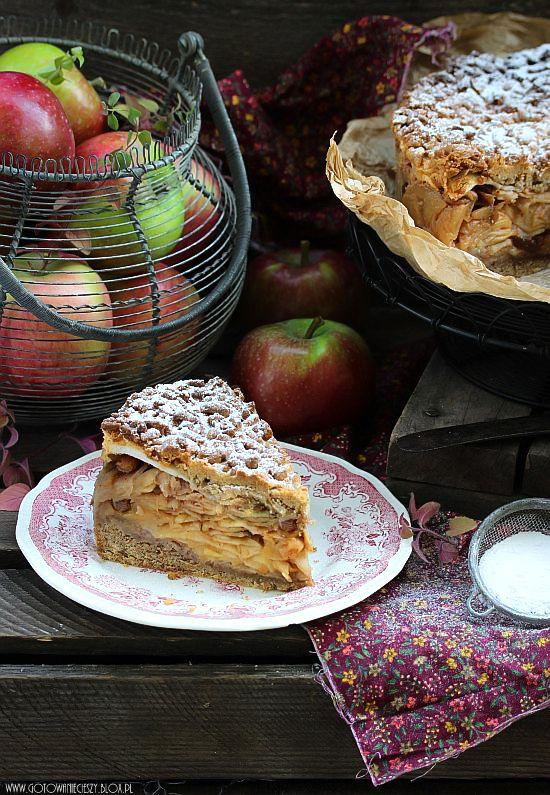 Tarta de Manzana estafadores integral merengue Y pasas