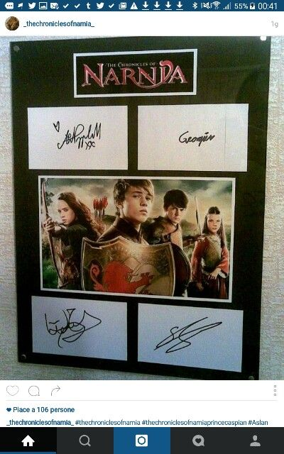 Anna Popplewell's signature is nice!