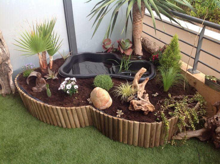 Notre bassin pour terrasse fait maison pinterest - Bassin fontaine pour terrasse colombes ...