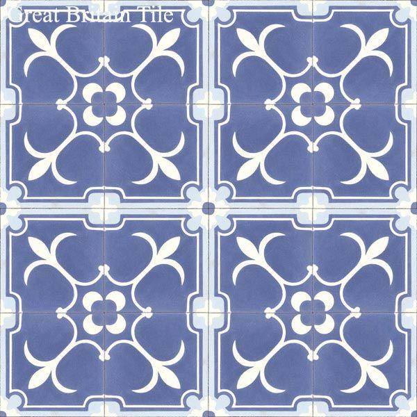 Original Mission Tile - Field Tile - Flor de Liz : Original Mission Tile | Great Britain Tile - America's Floor Specialists - (877) 895-9775