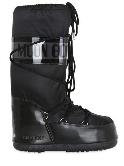 MOON BOOT - MB GLANCE SHINY NYLON BOOTS - BLACK