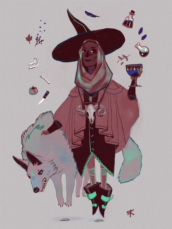 emoxic:  Witchsona week!  i'd be a witch with big hats, busy mixing potions with my wolf familiars, etc. just a ton of jar, bottles, vials f...