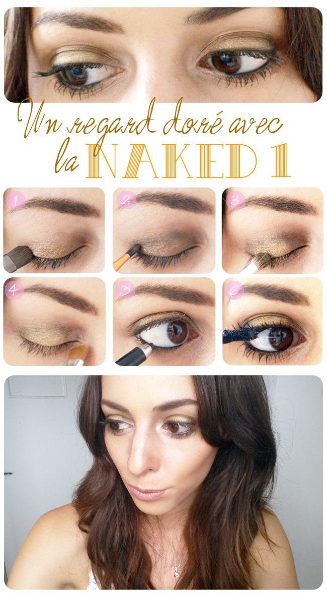 Tutoriel make-up doré avec la Naked 1 http://lejoliblog.com