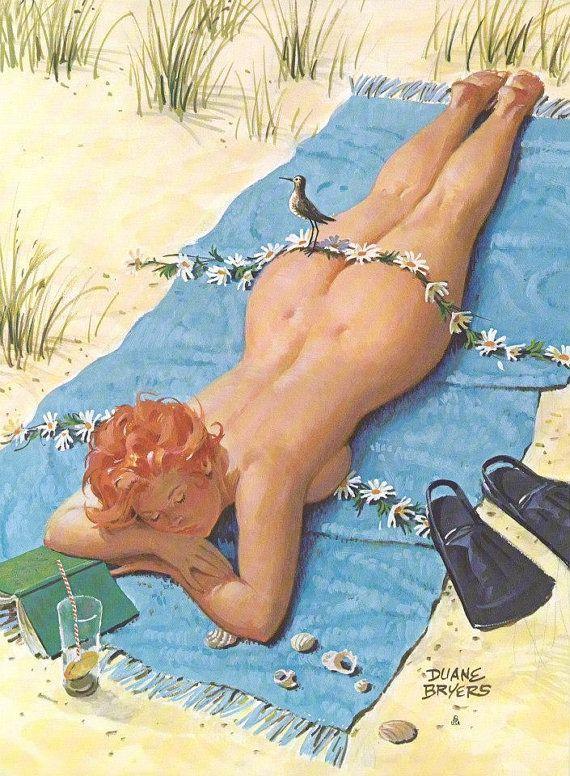 "Wall Art Print- Hilda Art Reproduction Vintage Sexy Pin-up Girl Vintage Sexy Plus-size Pin-up Girl Duane Bryers Hilda No.175 Print 8 x 10"""