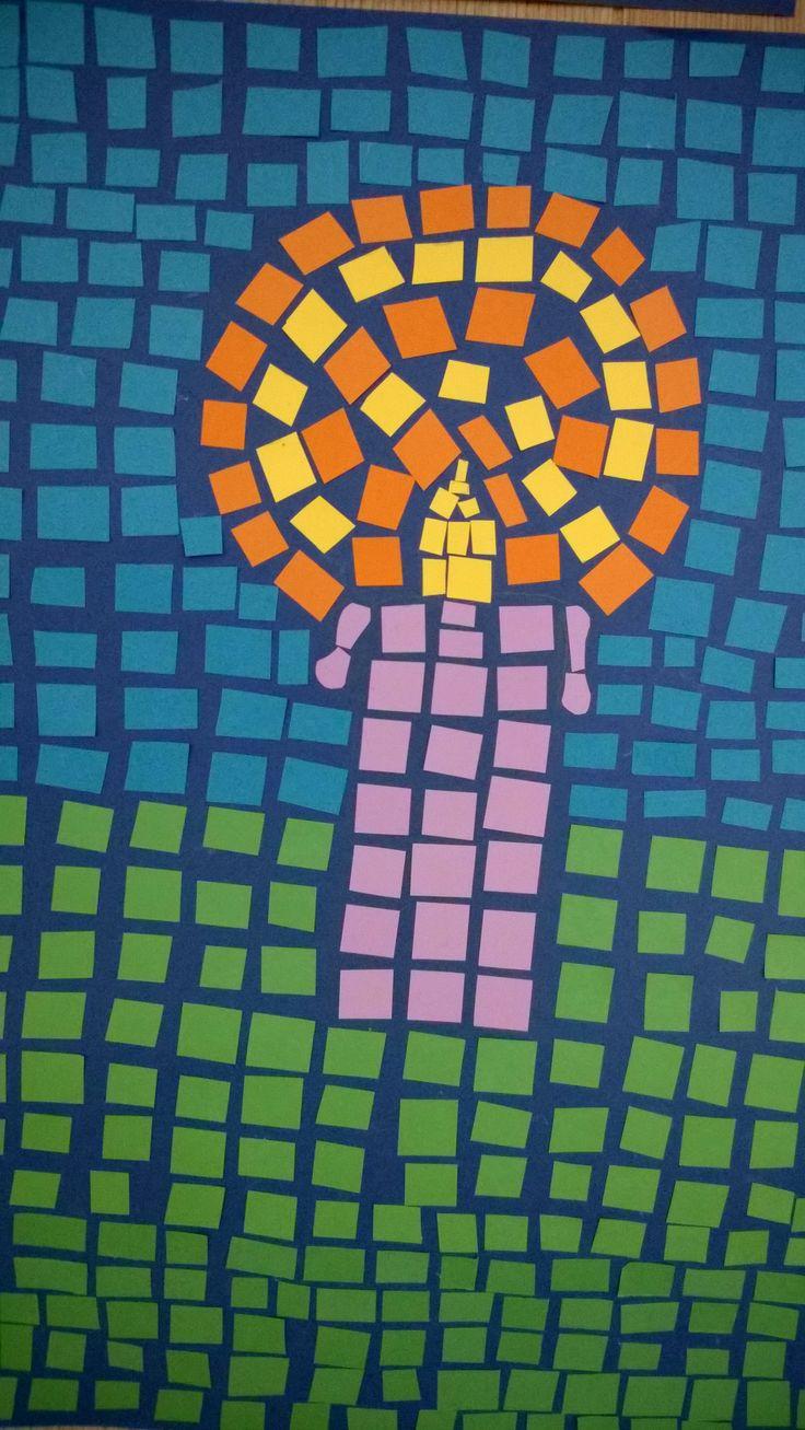 Mosaiikkikynttilä