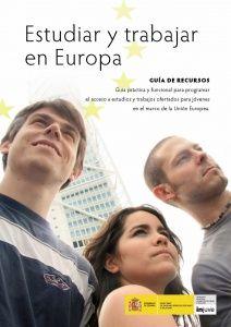 Portada de la Guía de Recursos Estudiar y trabajar en Europa